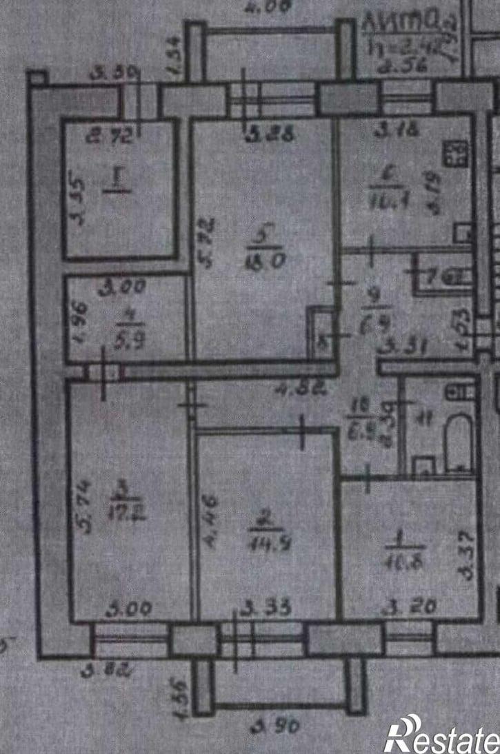 4-комн квартира Куратова улица, д.74